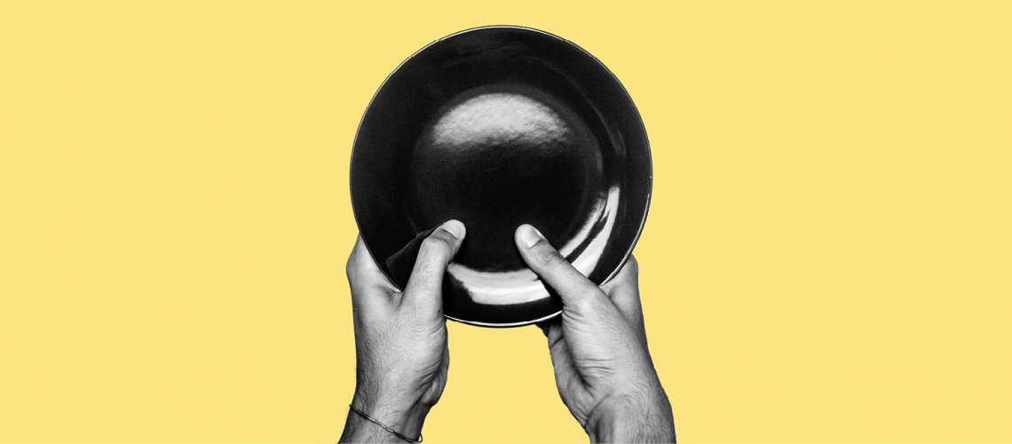 Hands holding bowl